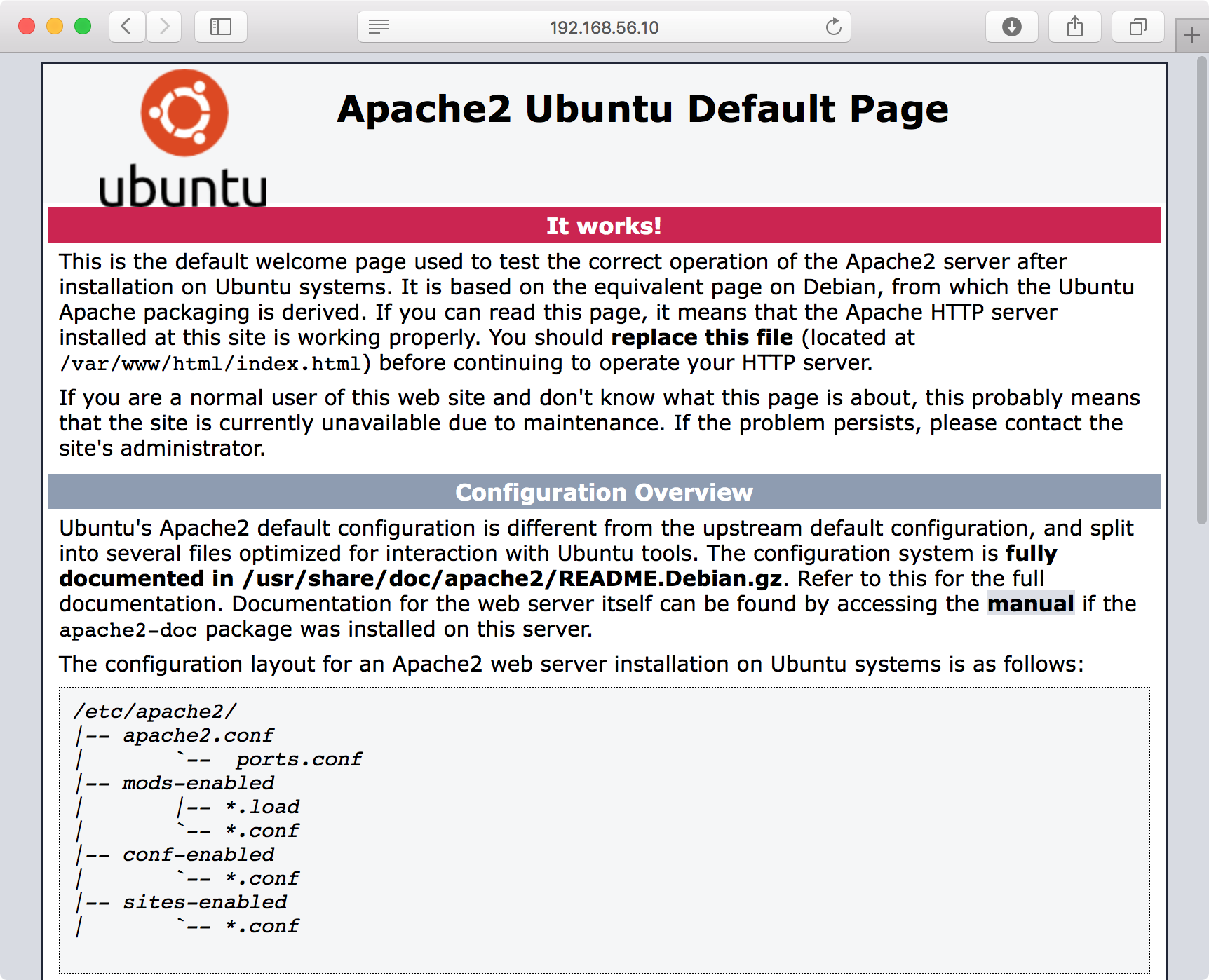Apache2 - It works