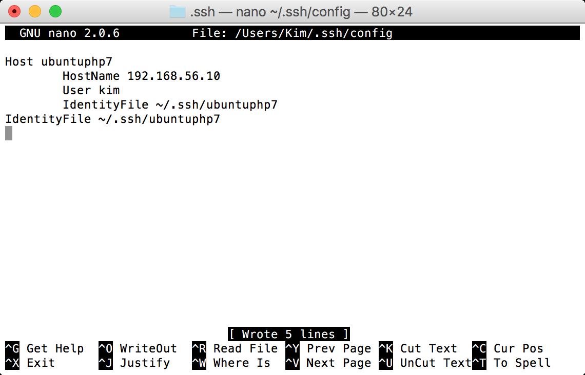 Host-Konfiguration für passwortlosen SSH-Zugriff.