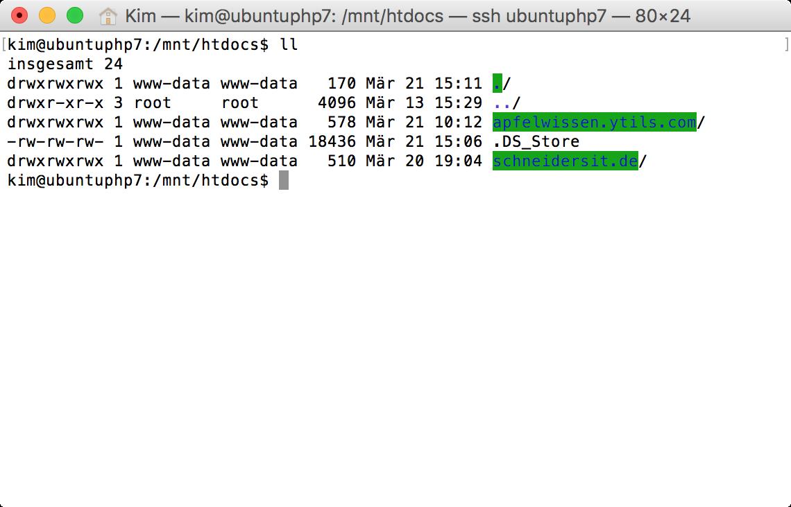 Mac-Order von VM aus sichtbar