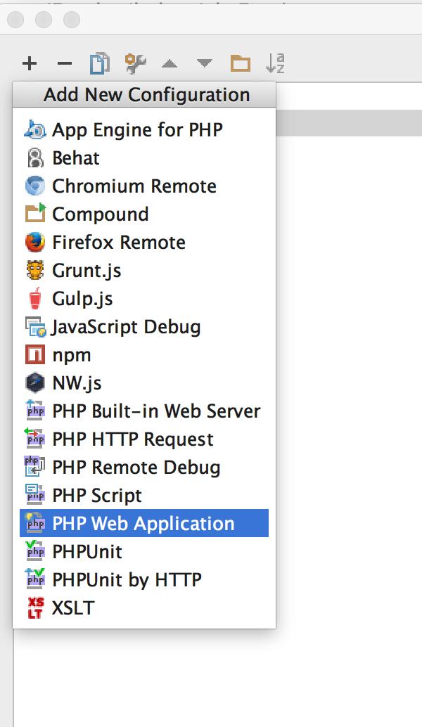 PHP Web Application Debug Einstellungen hinzufügen
