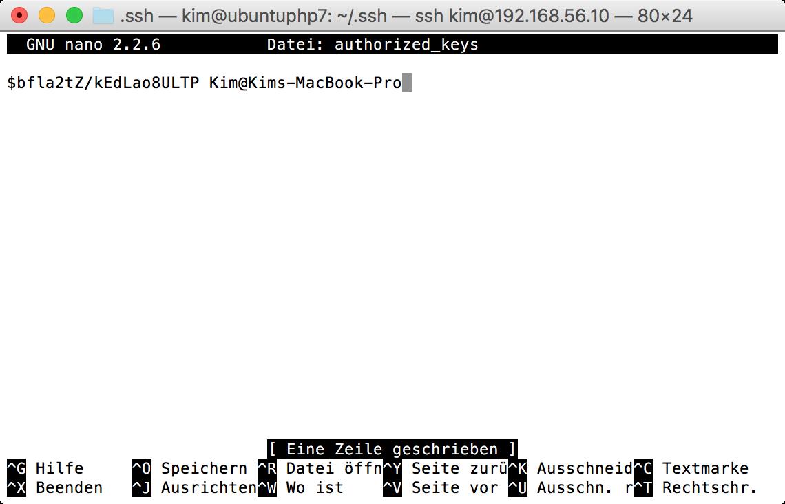 SSH-Key im Ubuntu Home-Directory