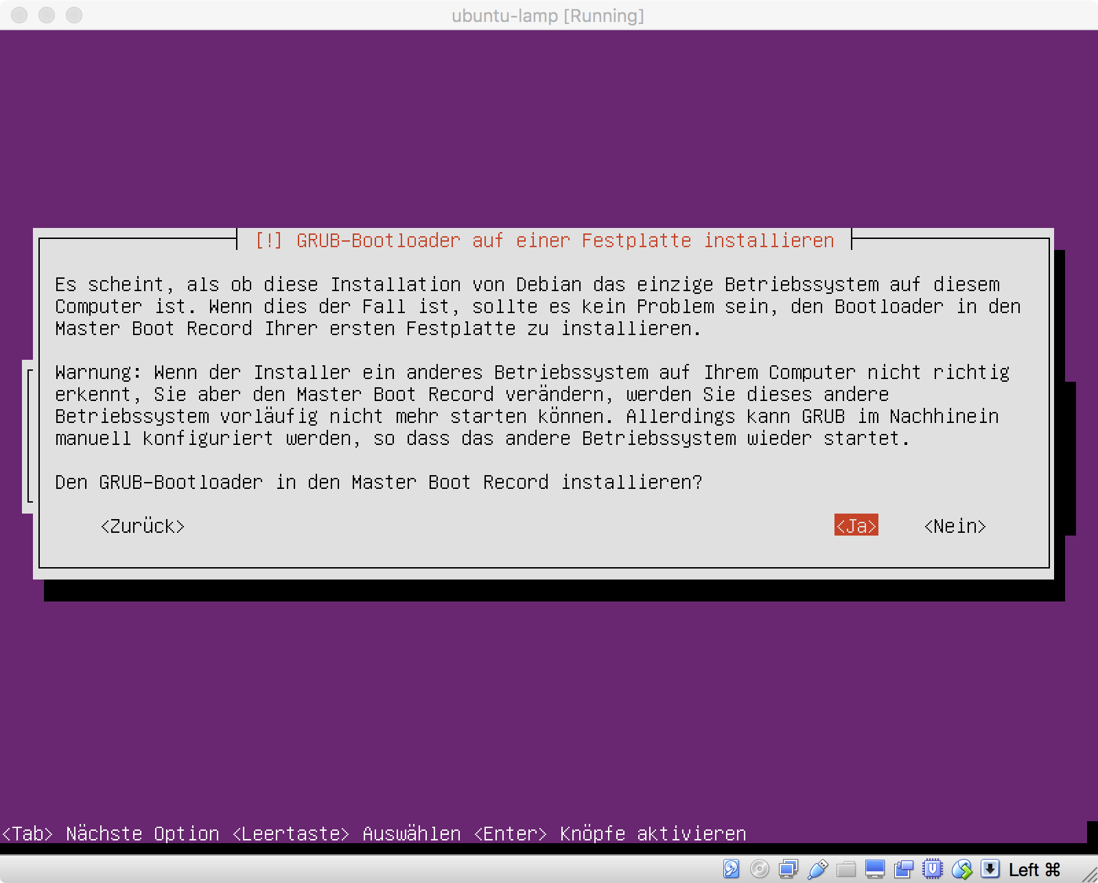 Ubuntu Installation - GRUB Bootloader