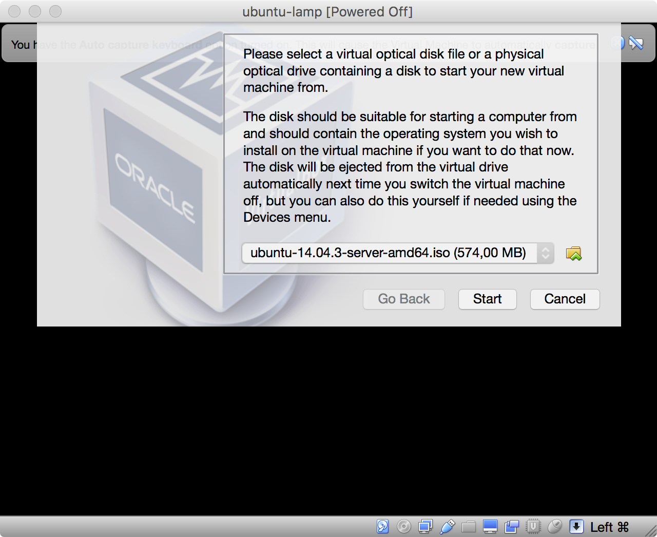 Ubuntu Installation starten - ISO-Image bereit zum Start